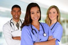 Doutor e enfermeiras Fotografia de Stock