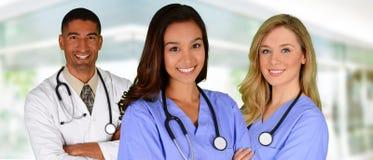 Doutor e enfermeiras Foto de Stock Royalty Free