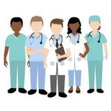 Doutor e equipa médica Fotografia de Stock