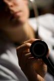 Doutor e estetoscópio Fotos de Stock Royalty Free