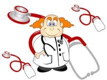Doutor e estetoscópio Foto de Stock Royalty Free