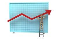 Doutor e gráfico do sucesso Foto de Stock