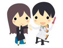 Doutor e paciente Fotos de Stock Royalty Free