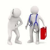 Doutor e paciente no fundo branco ilustração royalty free