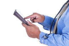 Doutor e tabuleta Imagem de Stock