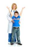Doutor e uma criança Imagens de Stock Royalty Free