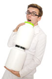 Doutor engraçado isolado Foto de Stock