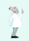 Doutor envelhecido no uniforme médico Imagens de Stock