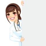 Doutor fêmea Peeking ilustração stock