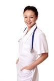 Doutor fêmea sobre o branco imagem de stock