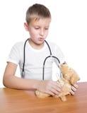 Doutor futuro adorável 7 anos velho Imagem de Stock