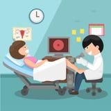 Doutor, ginecologista que executa o exame físico Foto de Stock