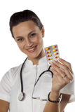 Doutor Holding Pills imagens de stock