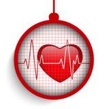 Doutor Hospital Heart Ball do Feliz Natal Fotos de Stock Royalty Free