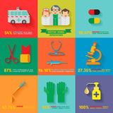 Doutor Icon Infographic Imagens de Stock Royalty Free