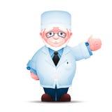Doutor idoso que aponta em um sentido Imagens de Stock