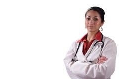 Doutor latino-americano da mulher foto de stock
