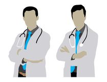 Doutor Man Silhouettes Fotografia de Stock Royalty Free