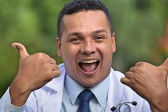 Doutor masculino And Happiness Imagem de Stock