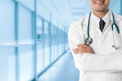 Doutor masculino no hospital Foto de Stock Royalty Free
