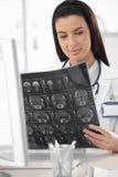Doutor novo com varredura do raio X. Fotografia de Stock Royalty Free