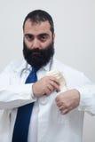 Doutor novo do macho da barba imagem de stock