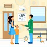 Doutor Pediatra Illustration da criança ilustração royalty free