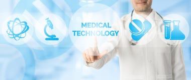 Doutor Points na TECNOLOGIA MÉDICA, ícone médico foto de stock