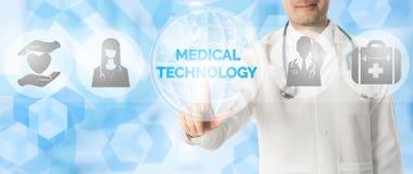 Doutor Points na TECNOLOGIA MÉDICA, ícone médico imagem de stock royalty free