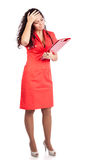 Doutor preocupado da enfermeira ou da mulher que começ a notícia ruim Imagem de Stock