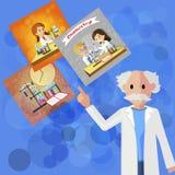 Doutor principal liso Pedagogy do seminário na química ilustração do vetor
