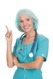 Doutor que aponta em algo interessante Fotografia de Stock Royalty Free