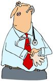 Doutor que põr sobre luvas Fotografia de Stock