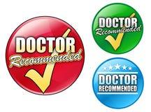Doutor Recommended Logotipo Círculo Imagem de Stock