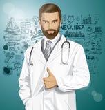 Doutor With Stethoscope do vetor Imagens de Stock Royalty Free