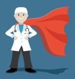 Doutor super ilustração stock