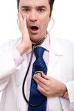 Doutor surpreendido Foto de Stock