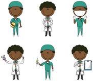 Doutores afro-americanos Imagem de Stock