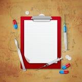 Doutores Caderno Médico Composição ilustração royalty free