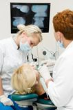 Doutores do dentista no tratamento dos dentes Imagem de Stock Royalty Free
