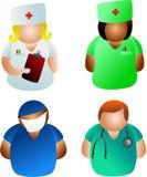 Doutores e enfermeiras ilustração royalty free