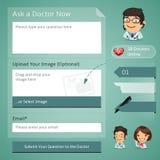 Doutores Em linha Consulta Formulário ilustração stock