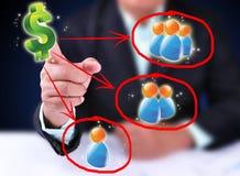 Doutrina do dinheiro. Imagem de Stock