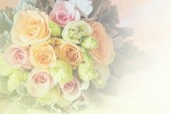 Doux brouillé du style rose de couleur en pastel de fleurs Photo stock