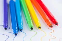 Doux-inclinez le crayon lecteur Photos libres de droits