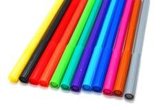 Doux-inclinez les crayons lecteurs Images stock