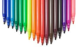 Doux-inclinez les crayons lecteurs Photos libres de droits