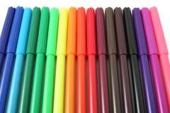 Doux-inclinez les crayons lecteurs Image libre de droits