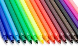 Doux-inclinez les crayons lecteurs Photo libre de droits