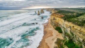 Douze apôtre le long de la grande route d'océan, Victoria Australia photographie stock